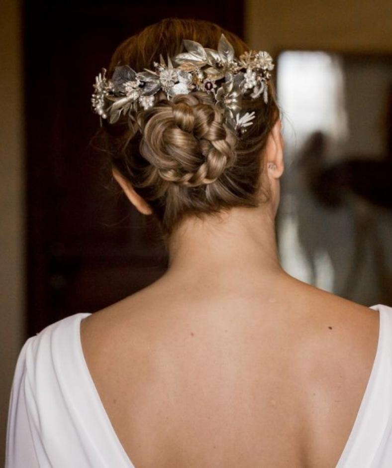 peinados con trenza novias