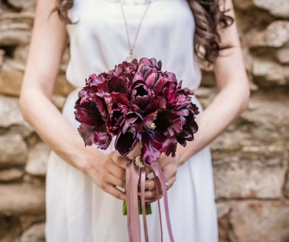 ramo de novia tulipanes