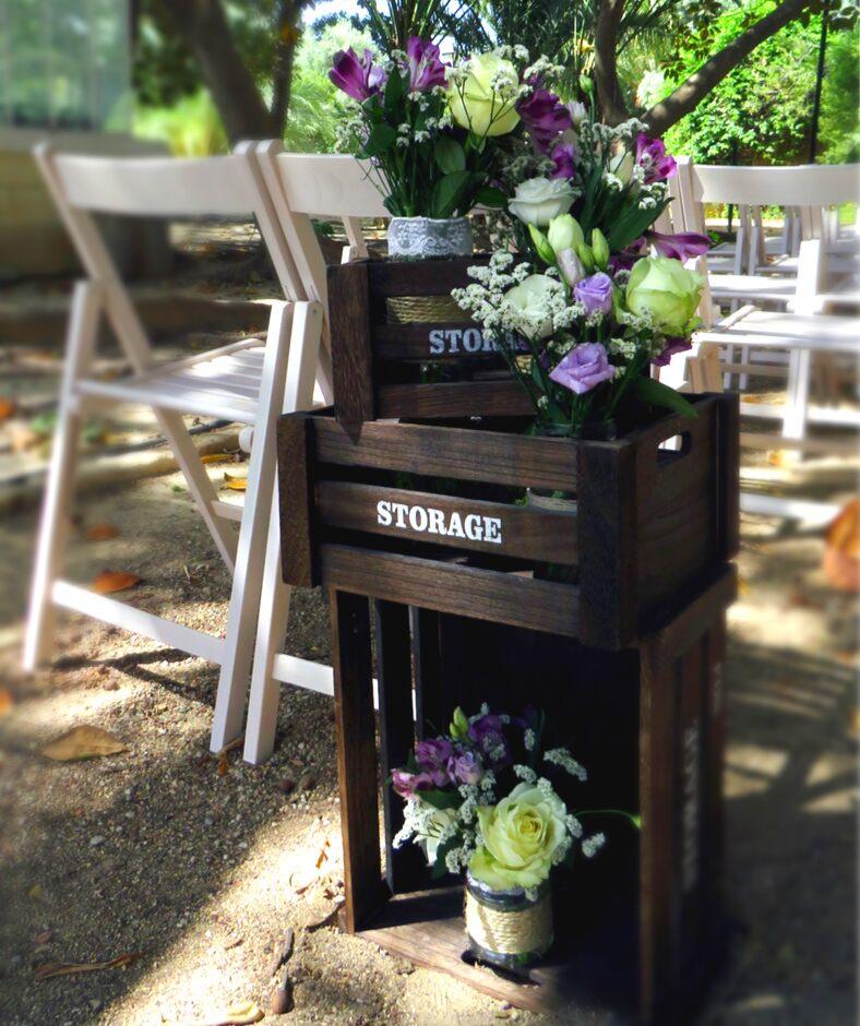 decoración boda sostenible